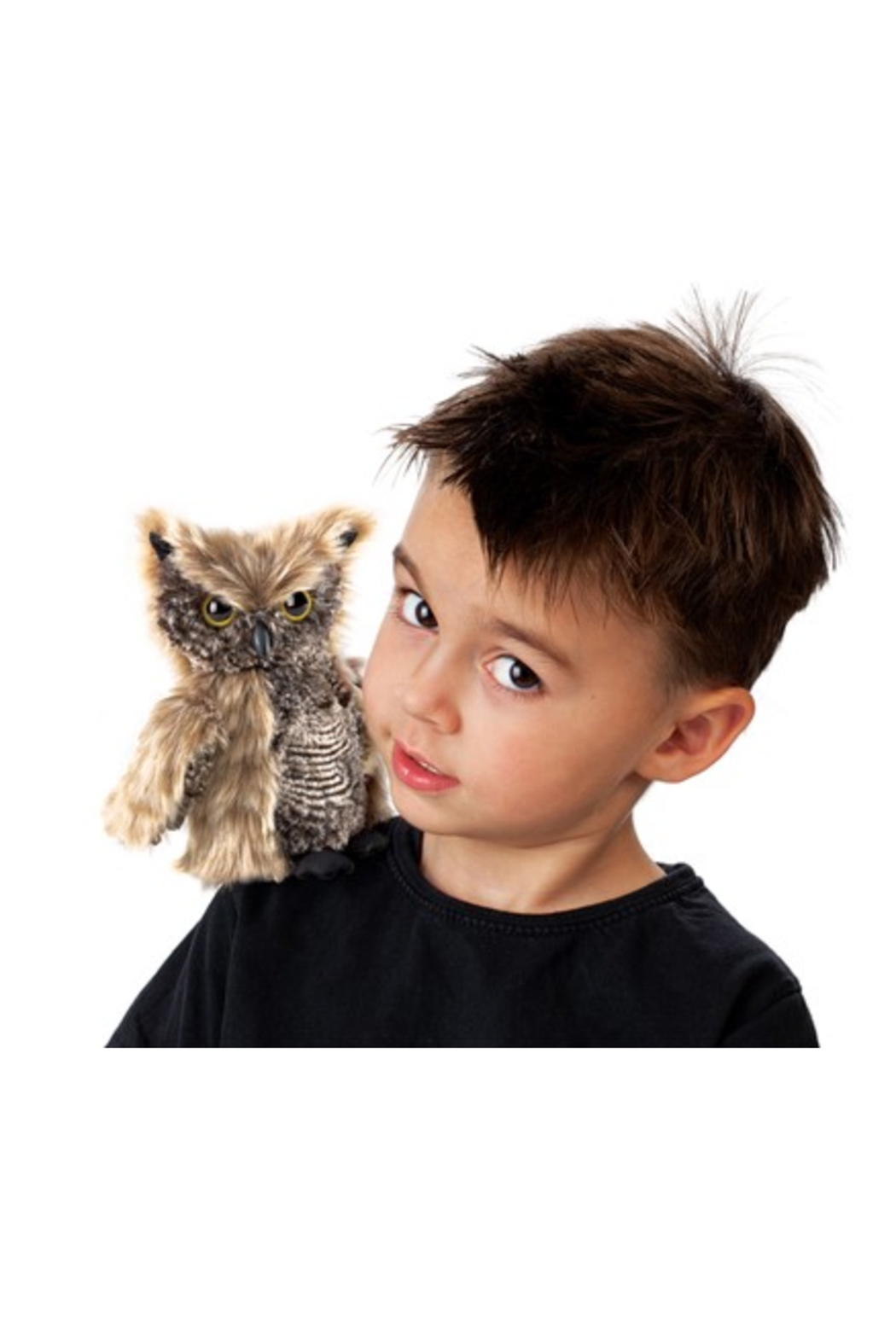 Folkmanis Screech Owl Hand Puppet - Side Cropped Image