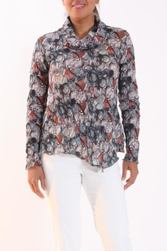 Talk of the Walk Scribble Floral Top - Product List Image