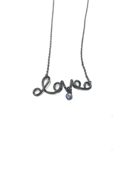 Lets Accessorize Scripted Love Necklace - Product Mini Image