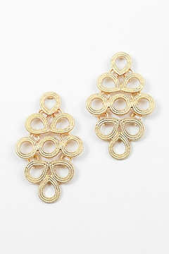 Embellish Scroll Marquis Earrings - Product List Image