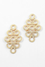 Embellish Scroll Marquis Earrings - Product Mini Image