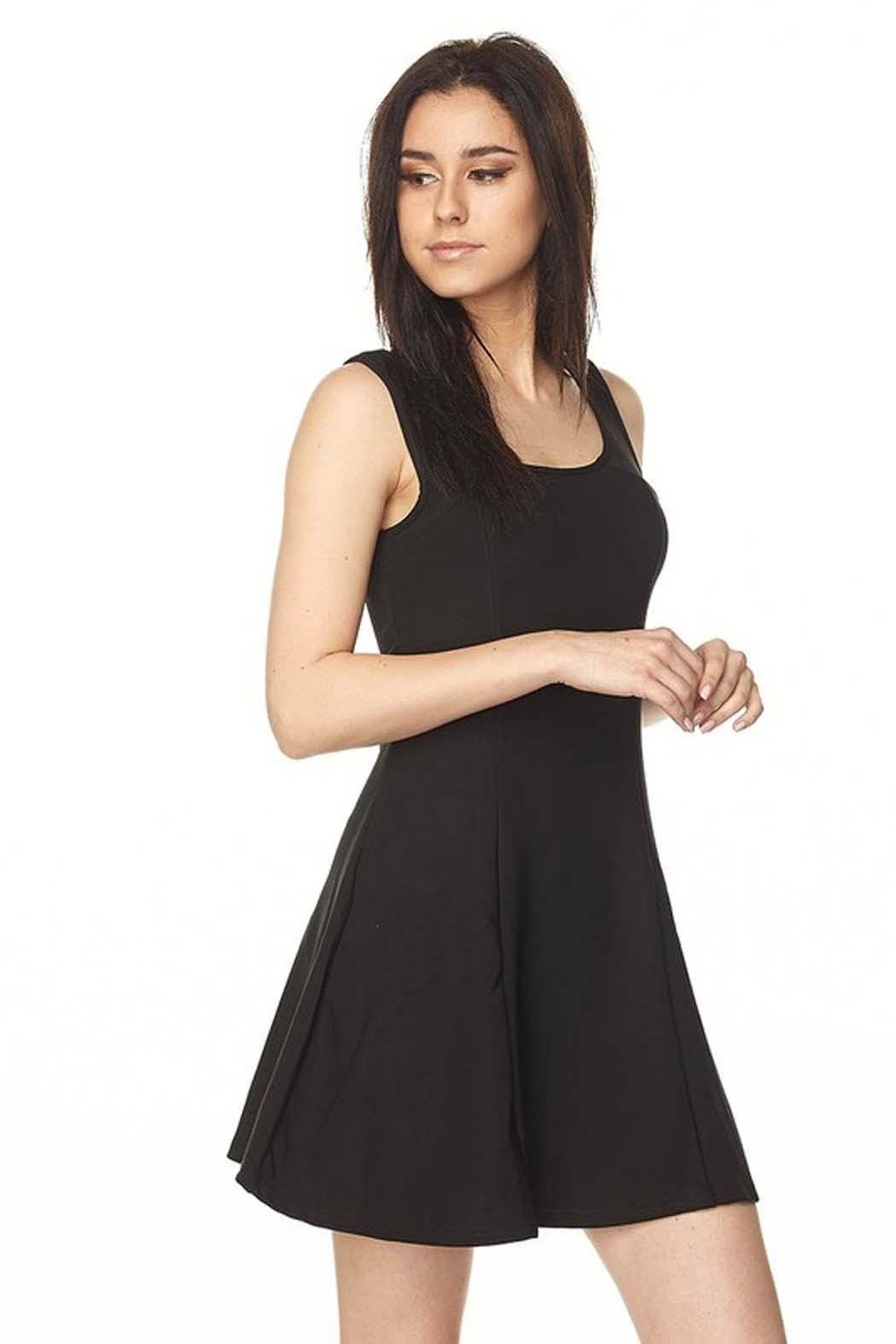 New Mix Scuba A-Line Dress - Front Full Image