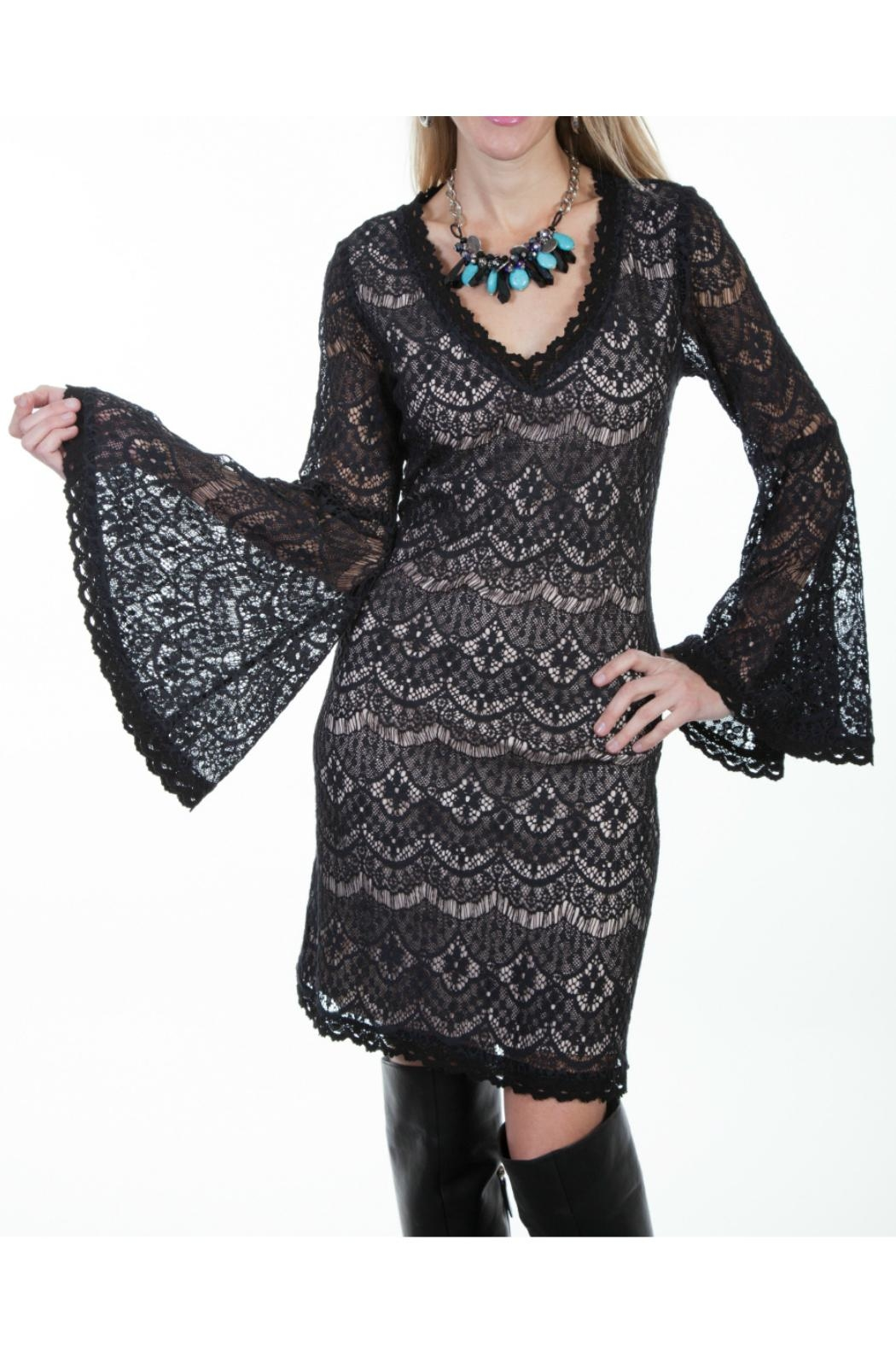 Scully Black Lace Dress - Main Image