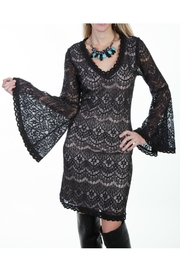 Scully Black Lace Dress - Front cropped