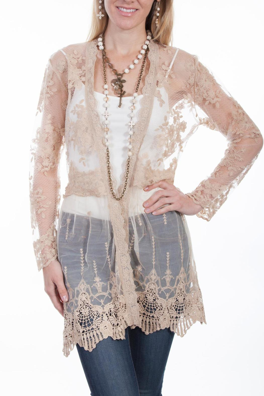 Scully Lace Cardigan - Front Cropped Image