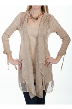 Shoptiques Product: Lace Cardigan & Tank Set
