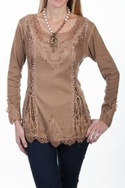 Scully Lace Front Blouse - Product Mini Image