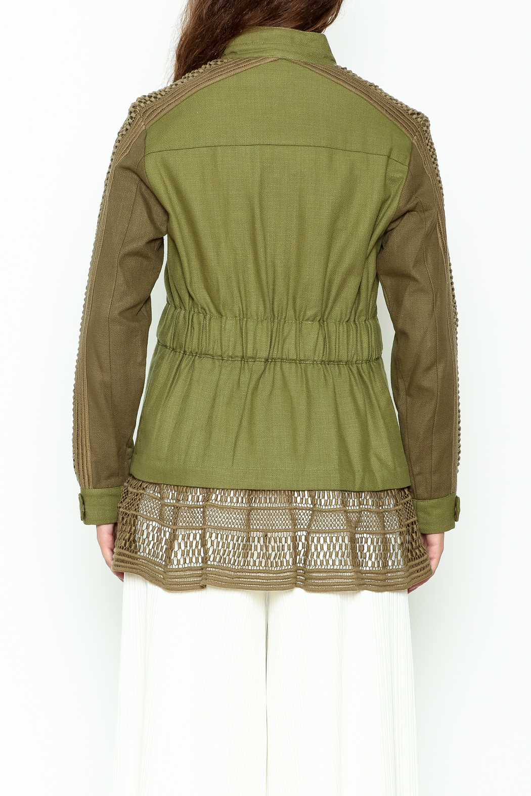 SEA Baja Lace Military Jacket - Back Cropped Image