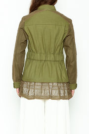 SEA Baja Lace Military Jacket - Back cropped