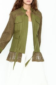 SEA Baja Lace Military Jacket - Front cropped