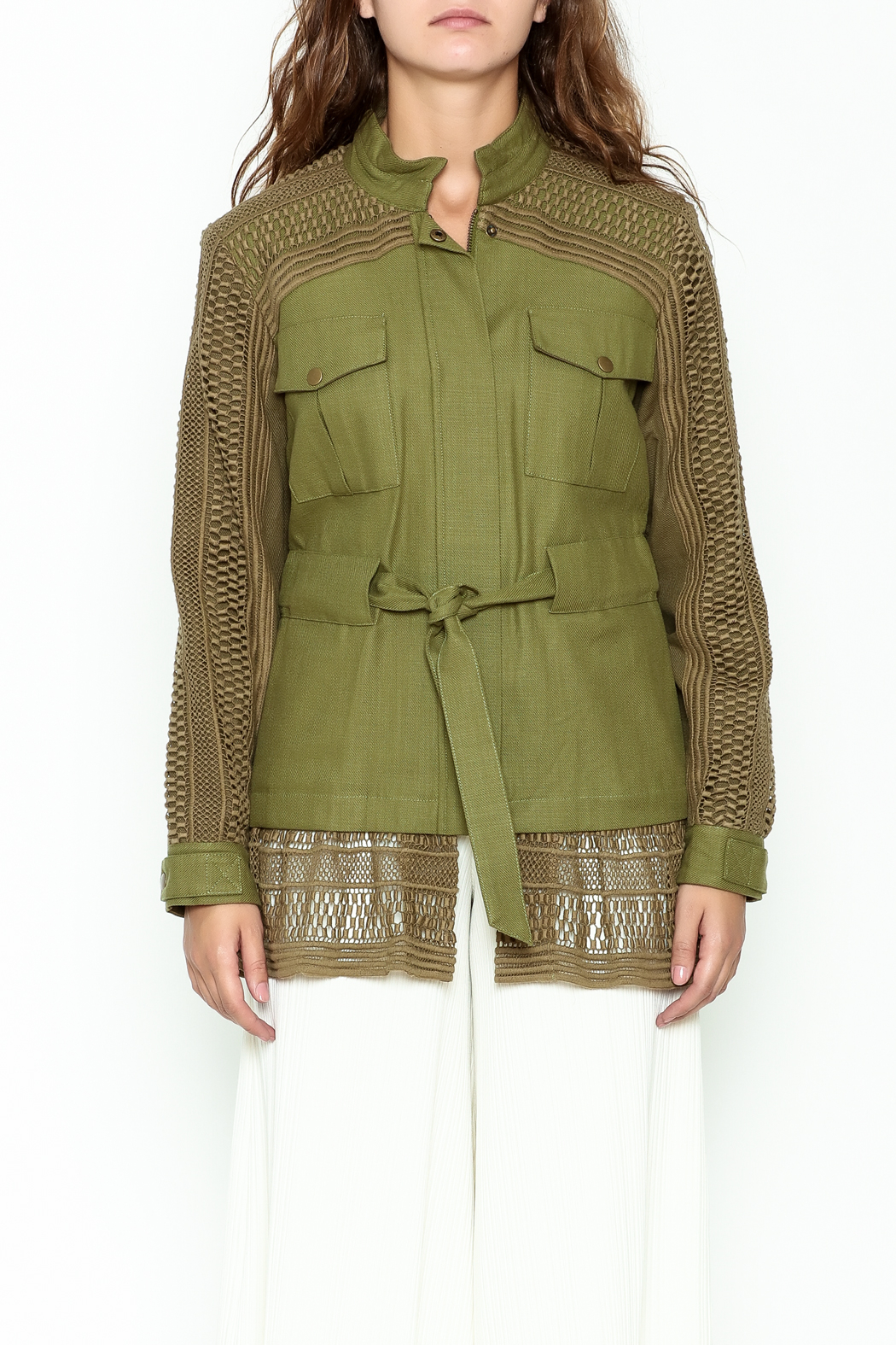 SEA Baja Lace Military Jacket - Front Full Image