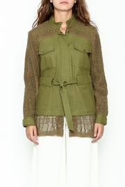 SEA Baja Lace Military Jacket - Front full body