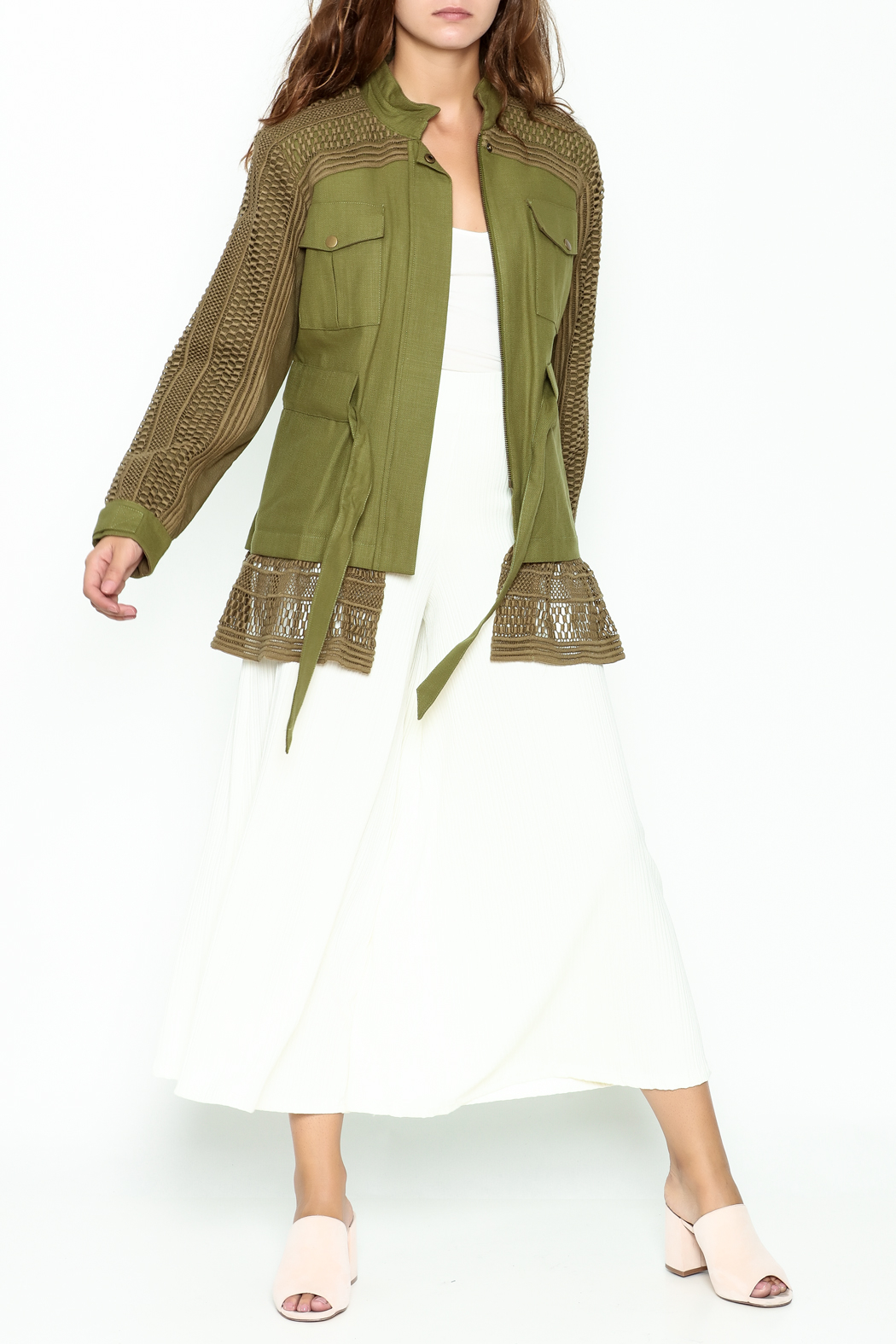 SEA Baja Lace Military Jacket - Side Cropped Image