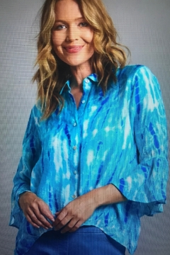 Multiples Sea Breeze Blouse - Product List Image