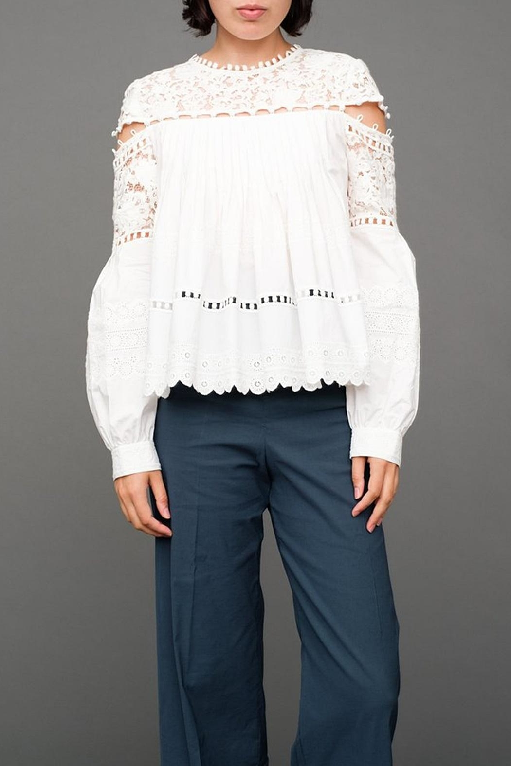 SEA Button Seam Blouse - Main Image