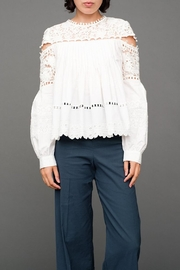 SEA Button Seam Blouse - Front cropped