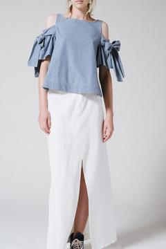 Shoptiques Product: Chambray Bow Top