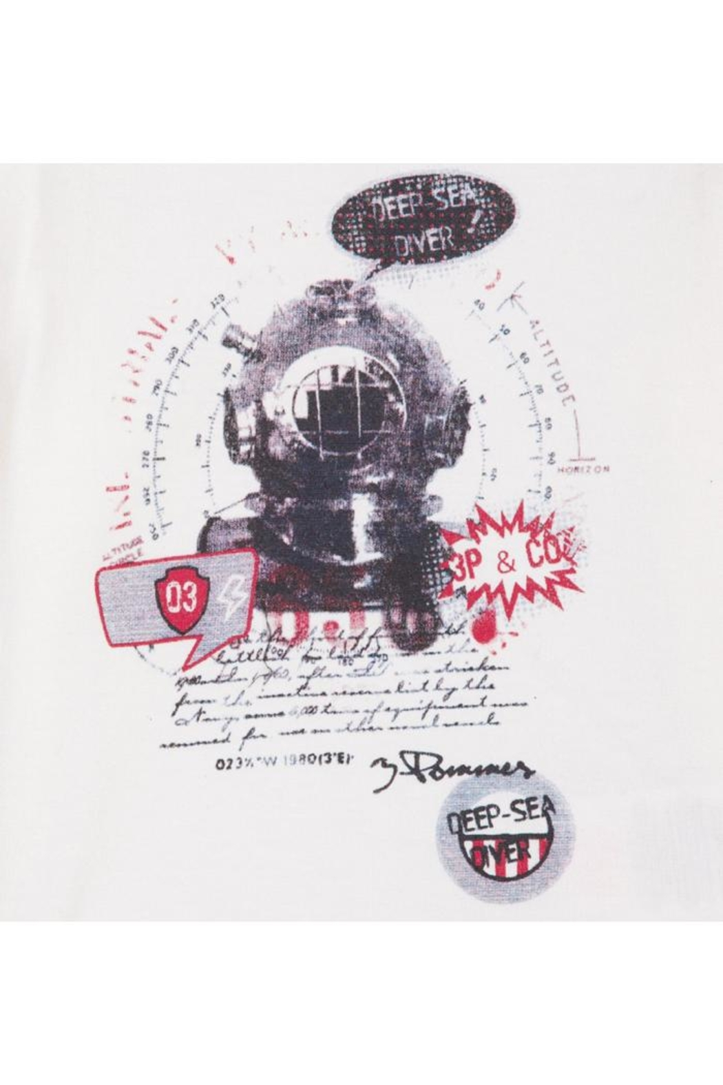 3 Pommes Sea Diver Tee - Front Full Image
