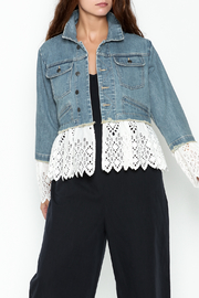 SEA Eyelet Layered Denim Jacket - Product Mini Image