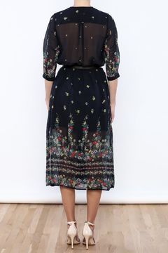 Shoptiques Product: Floral Belted Midi Dress