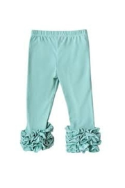 Bailey's Blossoms Sea Foam Leggings - Front cropped