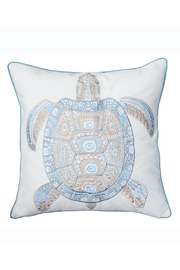 RIGHT SIDE DESIGN Sea Glass Tribal Turtle Indoor Outdoor Pillow - Product Mini Image