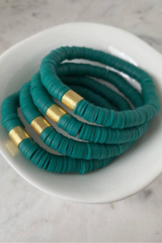 Mod Miss  Sea Green Color Pop Bracelet - Product Mini Image