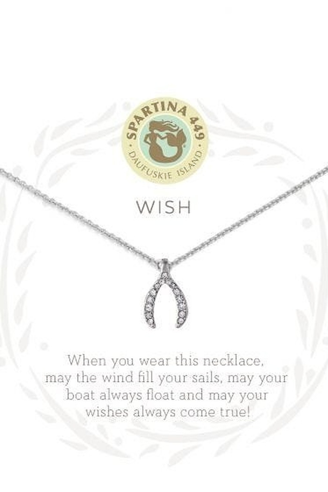Spartina 449 Sea La Vie Wishbone  Necklace 18' - Main Image