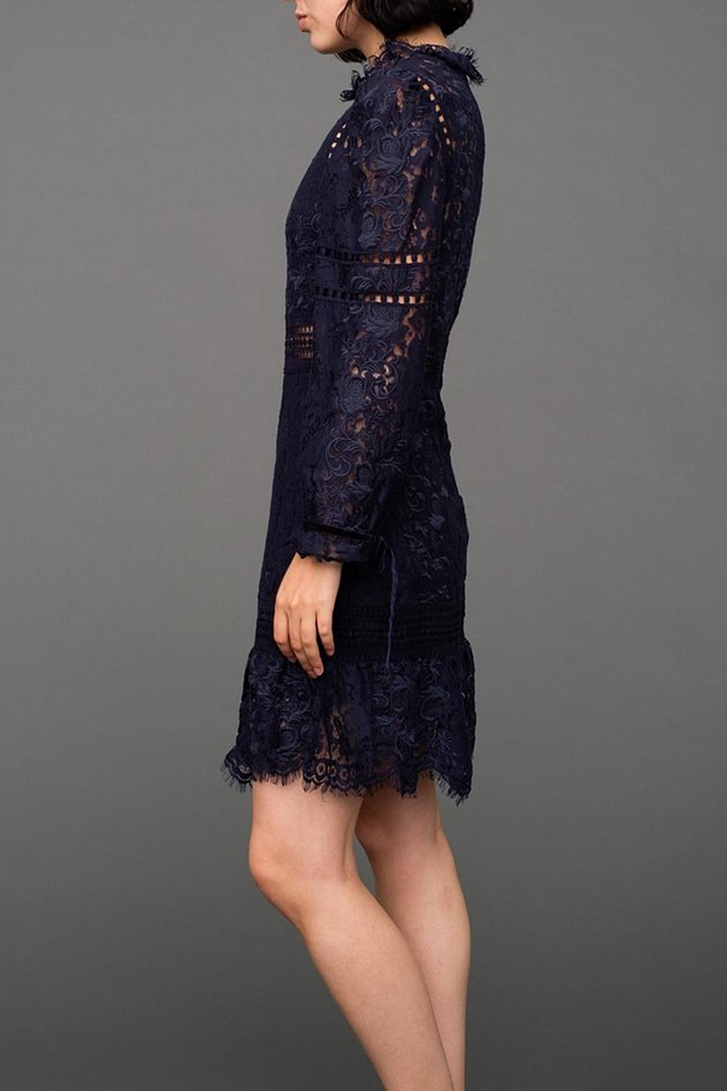 SEA Lace Embroidered Dress - Side Cropped Image
