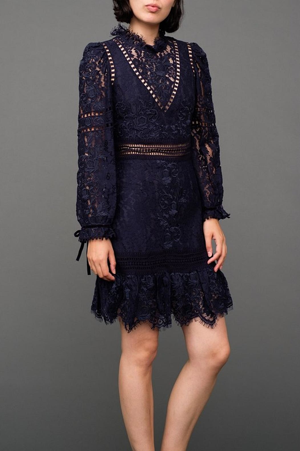 SEA Lace Embroidered Dress - Main Image