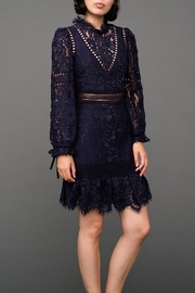 SEA Lace Embroidered Dress - Front cropped