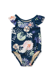Tea Collection Sea Life Baby One-Piece - Front cropped