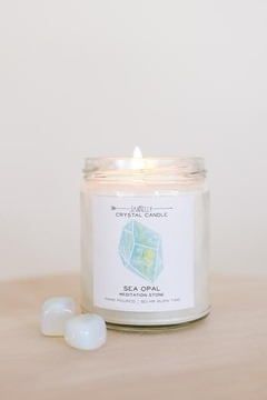 JaxKelly Sea Opal Crystal Candle - Product List Image