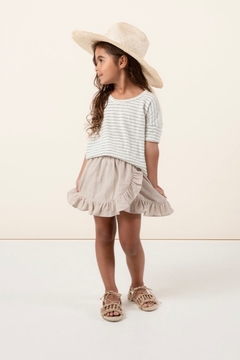 Rylee & Cru Sea Stripe Boxy Tee - Alternate List Image