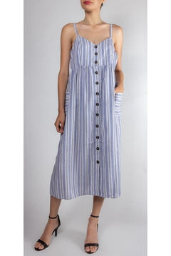 Shoptiques Product: Sea-Striped Button-Down Dress
