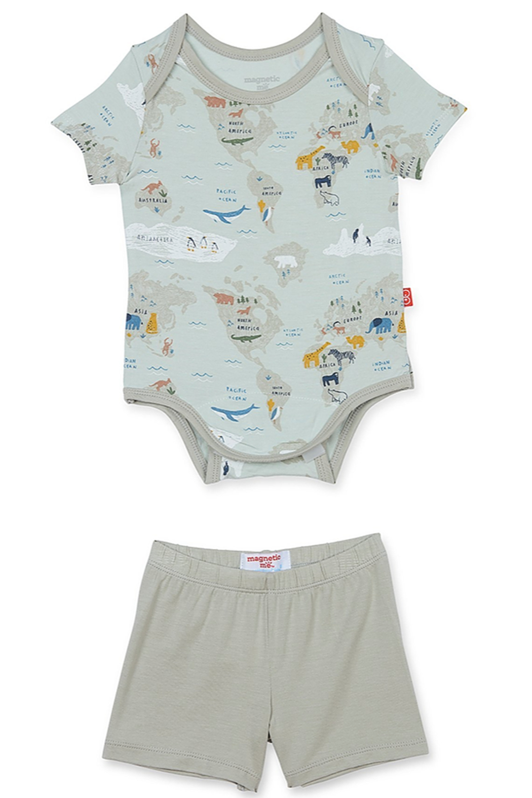 Magnetic Me Sea The World Modal Onesie + Short - Front Cropped Image