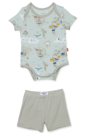Magnetic Me Sea The World Modal Onesie + Short - Front cropped