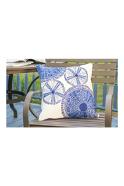 RIGHT SIDE DESIGN Sea Urchin Modern Pattern Outdoor Sunbrella Pillow - Product Mini Image