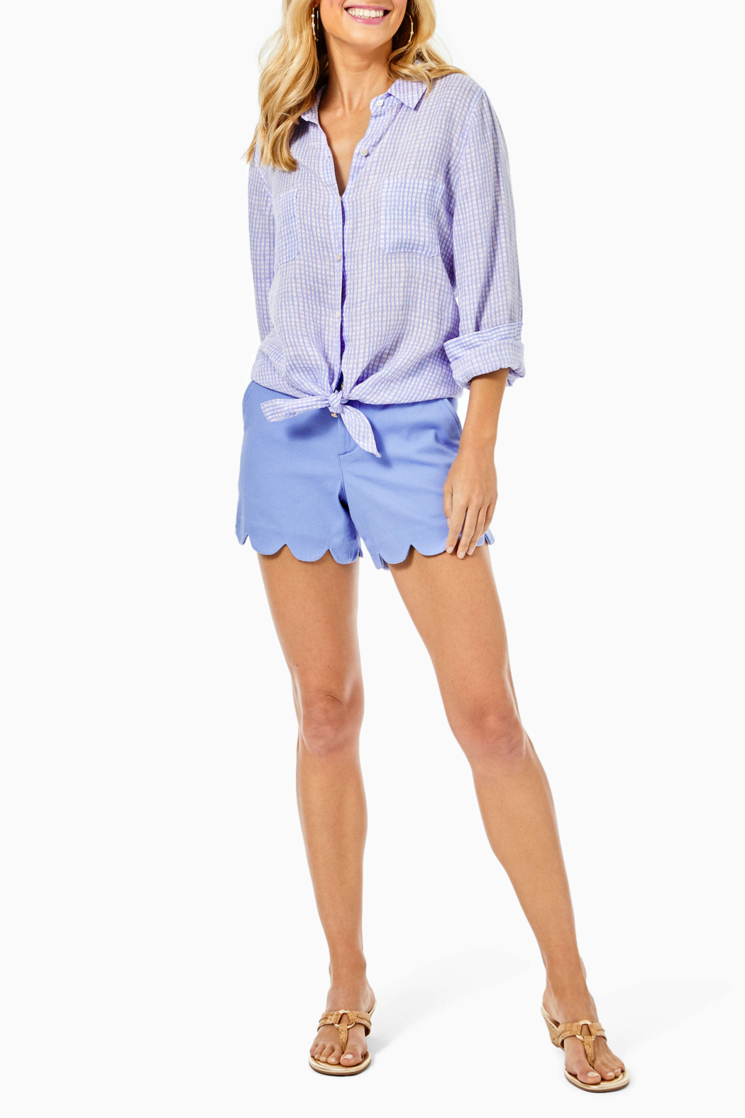 Lilly Pulitzer  Sea View Button Down - Side Cropped Image