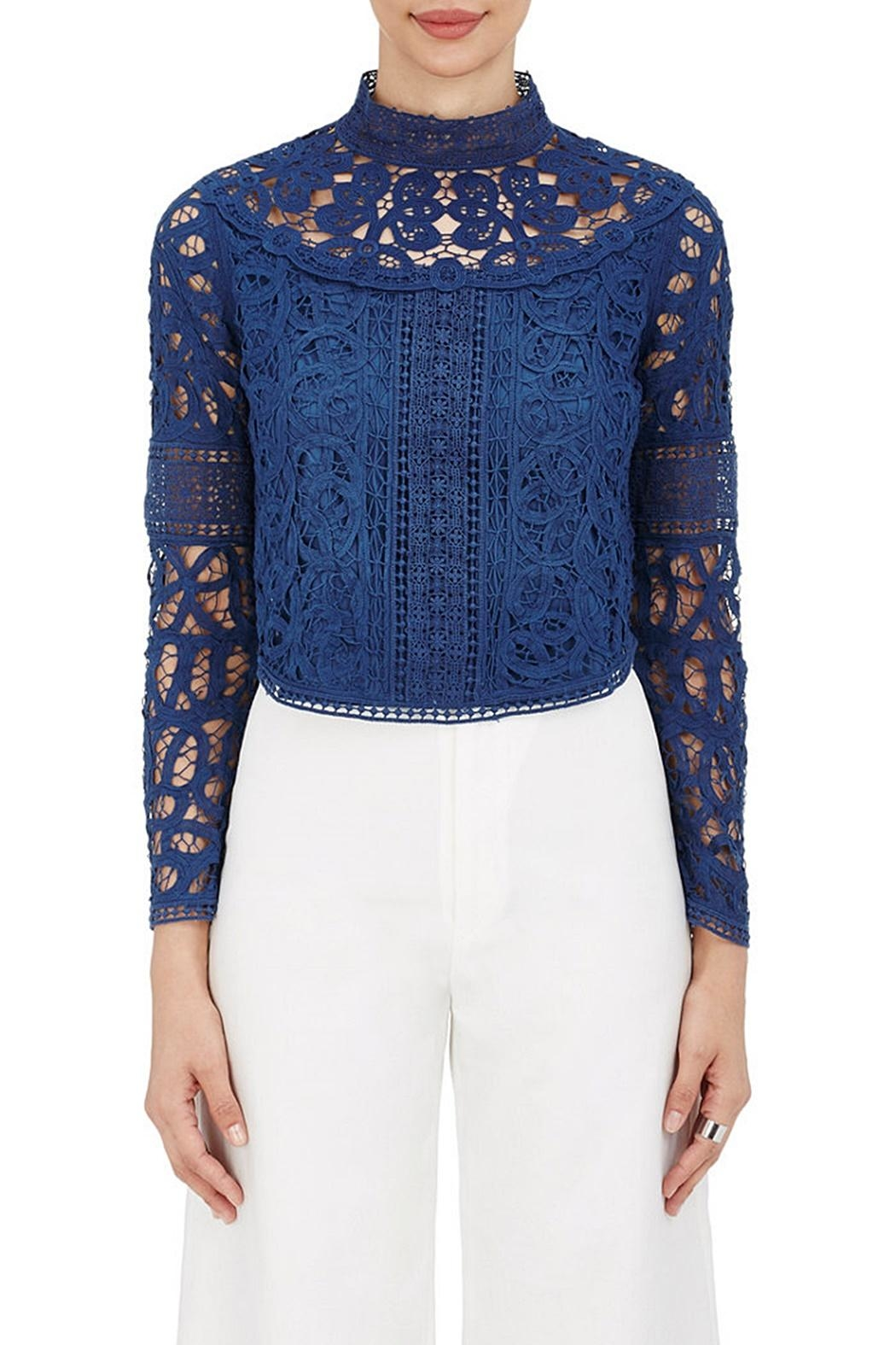 SEA Batternberg Lace Top - Front Cropped Image