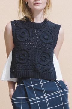 Shoptiques Product: Sleeveless Hand Knitted Top