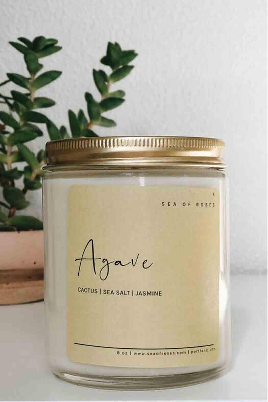 Sea of Roses Agave Soy Candle - Main Image