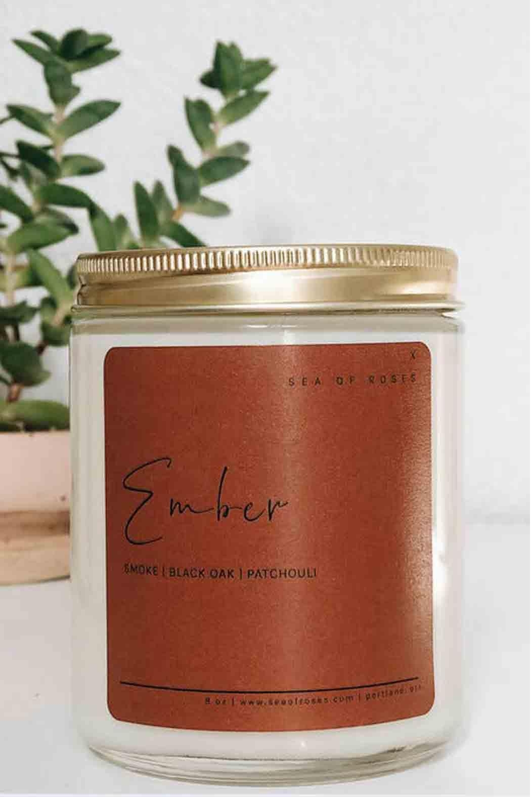Sea of Roses Ember Soy Candle - Main Image