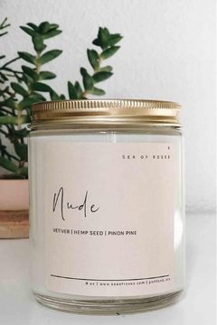 Sea of Roses Nude Soy Candle - Alternate List Image