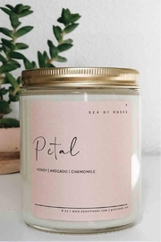 Sea of Roses Petal Soy Candle - Front cropped