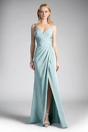 Cinderella Divine Seafoam Blue Gathered Long Formal Dress - Product Mini Image