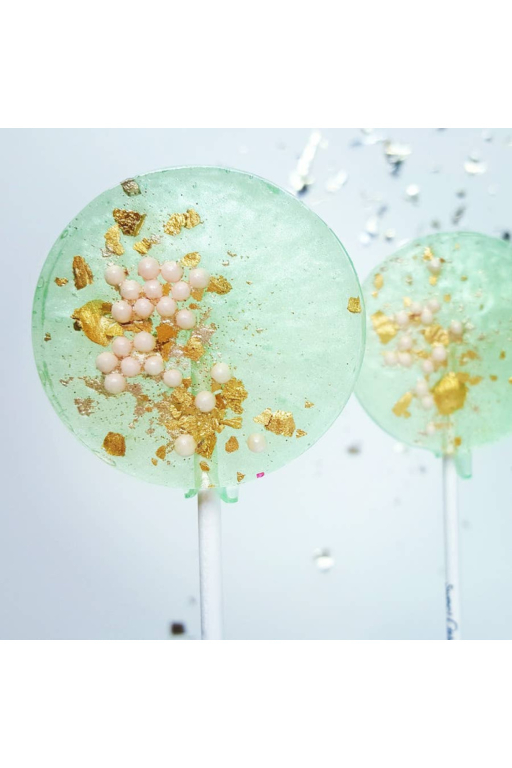 The Birds Nest SEAFOAM GREEN & PINK LOLLIPOPS - Front Cropped Image
