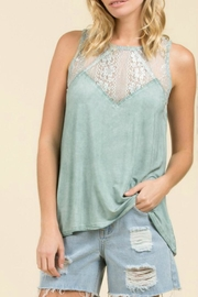 POL Seafoam Lace Top - Product Mini Image