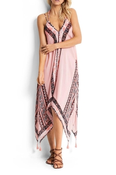 Shoptiques Product: Silk Pink Printed Dress