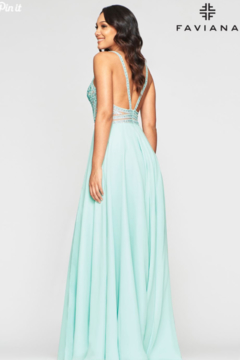Faviana Seaglass Chiffon Gown - Alternate List Image